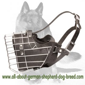 'Pets-gonna-love-it' German Shepherd Muzzle - Dog Basket Muzzle