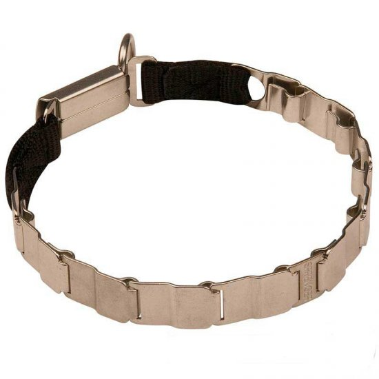 German Shepherd Neck Tech Stainless Steel Pinch Dog Collar 19 inch (48 cm)