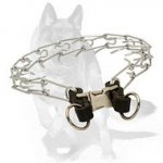 German Shepherd Chrome Plated Pinch Dog Collar with Quick Release Buckle 1/8 inch (3.25 mm)