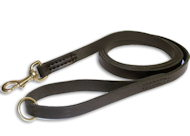 Rescue Leather Leash for German Shepherd