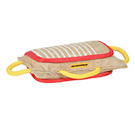 German Shepherd 3 Handled Bite Pillow - Training Jute Bite Pad