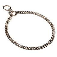 Training Chrome Plated Chain Choke Dog Collar 1/9 inch (3.00 mm) link width