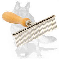 """Hair Designer"" Dog Comb with Wooden Handle"