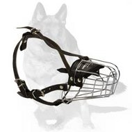 Lightweight Wire Basket Dog Muzzle for German Shepherd