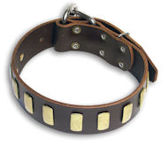 Alsatian Dog Quality Brown collar 22'' /22 inch dog collar-S33p