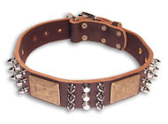 GSD handcrafted Brown collar 21''/21 inch dog collar-C86