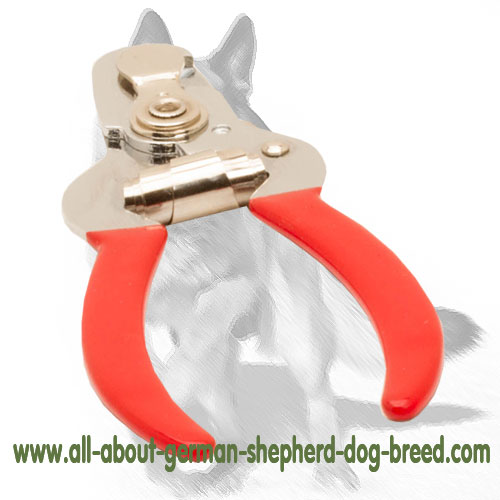 Dependable dog trimmer with vinyl handles