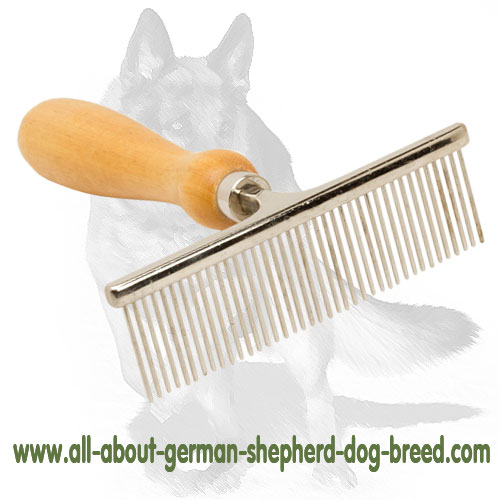 Reliable chrome plated dog brush
