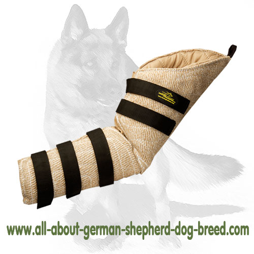 Flexible dog jute bite sleeve