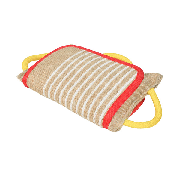Durable jute training bite dog pillow