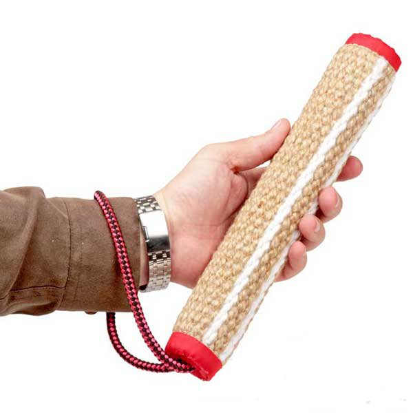 Durable jute bite tug with handle
