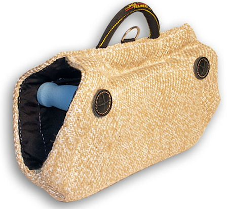 Great Jute Bite Wedge Tug Toy with Hidden Handles