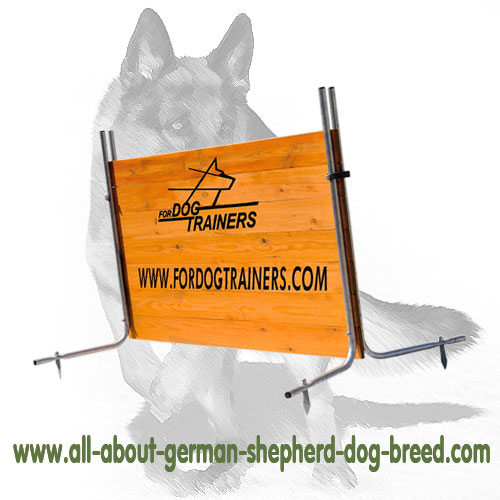 Schutzhund dog barrier for jumping