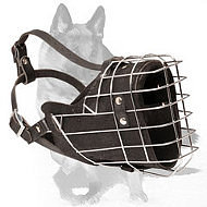 Wire basket German Shepherd Dog Muzzle