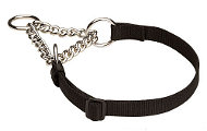 German Shepherd Martingale Nylon Choke Dog Collar 4/5 inch (20 mm)