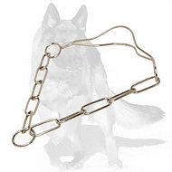 German Shepherd Chrome Plated Show Dog Collar