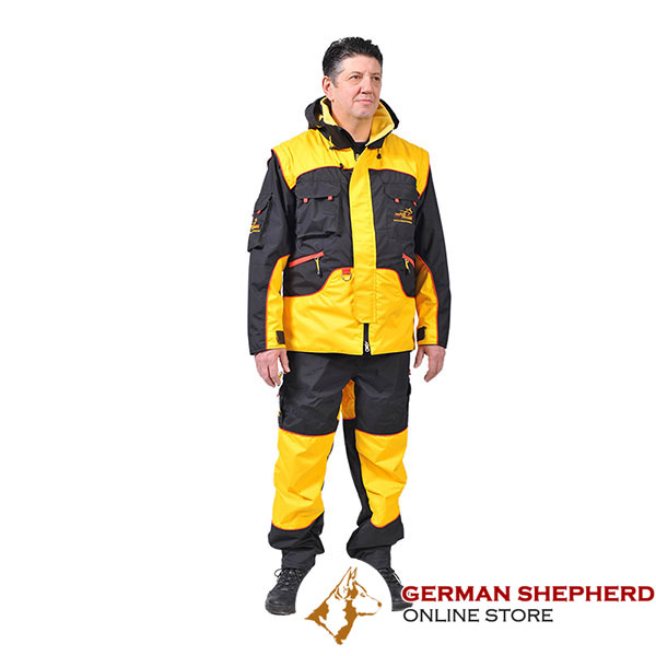 Bite Suit of Waterproof Membrane Fabric for Training