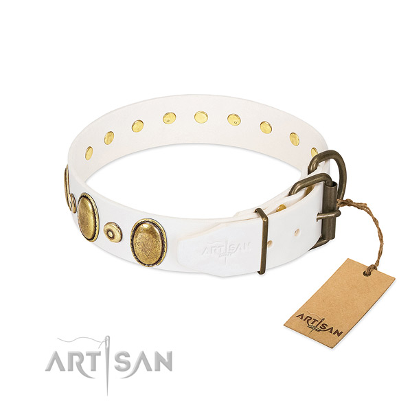 High quality leather collar made for your doggie
