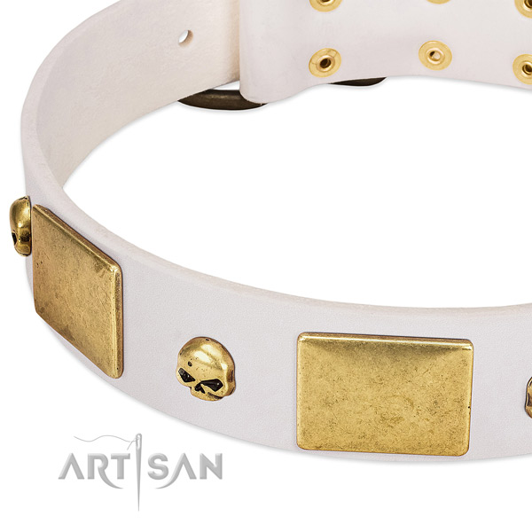 Reliable full grain genuine leather collar crafted for your doggie