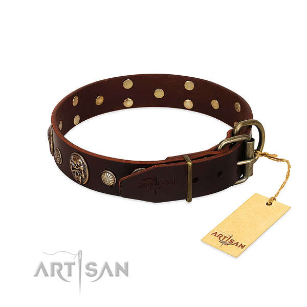 Strong buckle on easy wearing dog collar