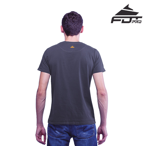 Men T-shirt of Dark Grey Color FDT Pro for Dog Training
