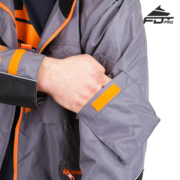 Handy Sleeve Pocket on Pro Design Dog Tracking Jacket