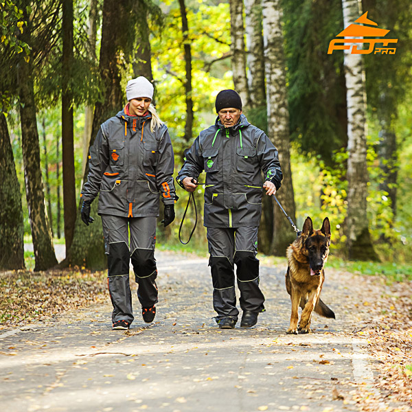 Unisex Durable Dog Tracking Suit for Men and Women with Reflective Trim