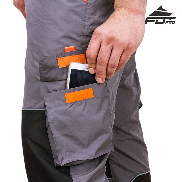 Pro Design Dog Trainer Pants with Comfortable Velcro Side Pocket