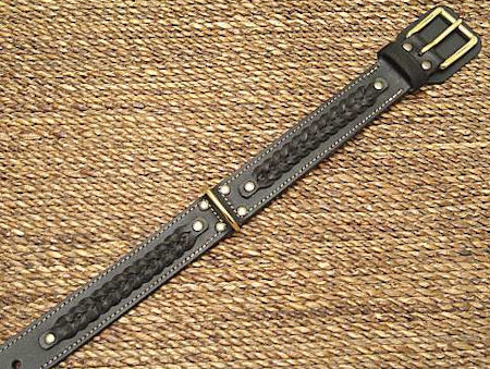 Fashion Flat Leather Dog Collar for German Shepherd