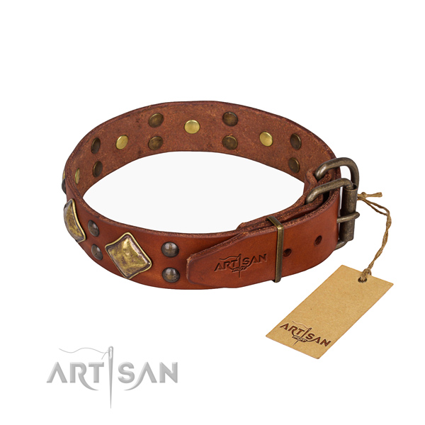 Multifunctional leather collar for your handsome canine