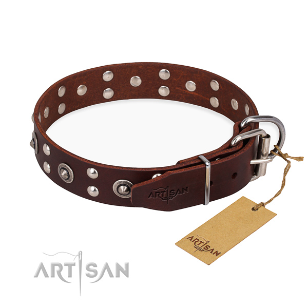 Tear-proof leather collar for your beloved dog