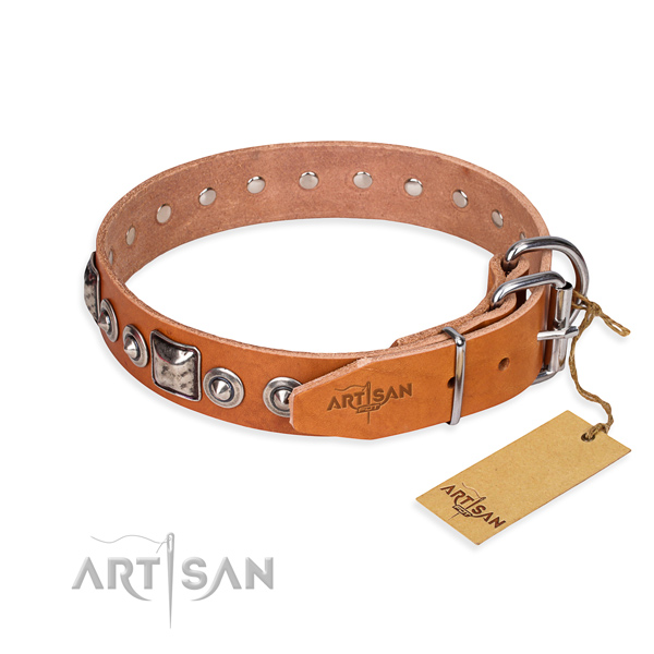 Wear-proof leather collar for your darling four-legged friend