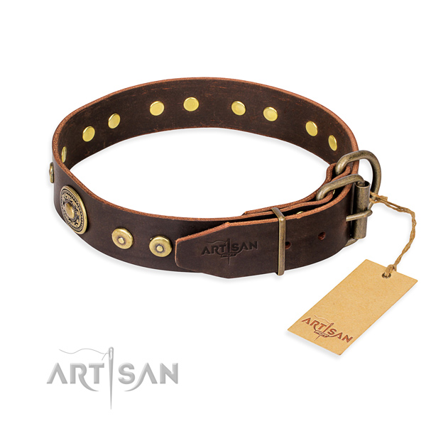 Tear-proof leather collar for your gorgeous pet