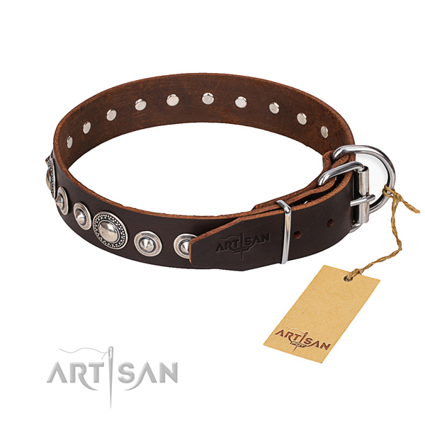 Durable leather collar for your elegant canine