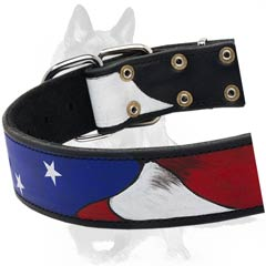 Dog Collar with nickel-plated buckle