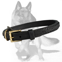 High tensile Strength two-ply Leather Collar