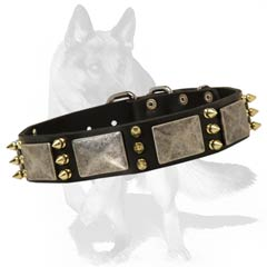 Safe for your dog's health Collar Robust nickel plated buckle and D-ring