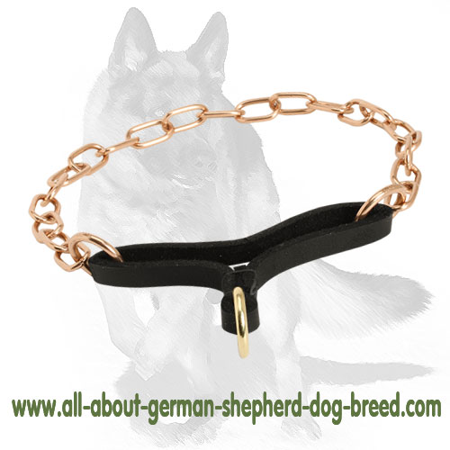 Fur saver martingale dog collar with leather part