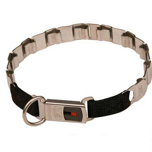 Reliable neck tech dog collar with secure buckle