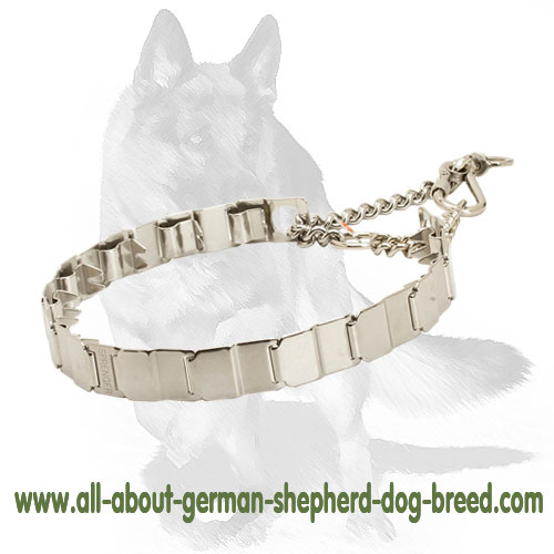 Durable neck tech steel dog pinch collar