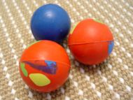 German Shepherd Crazy Color Rubber Ball