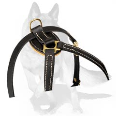 German Shepherd Puppy Harness with Quick release buckle