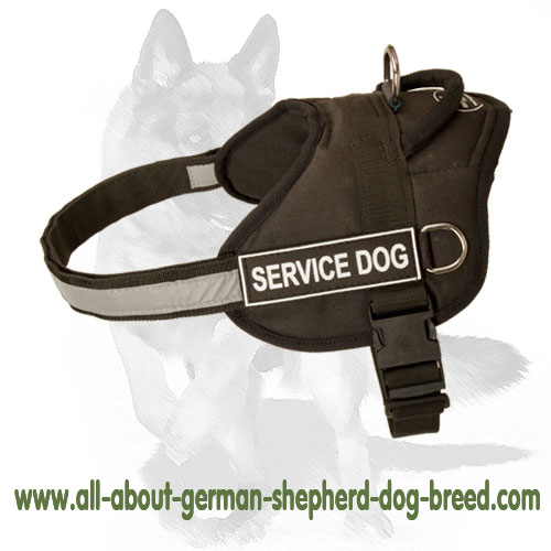 Nylon dog harness for comfy wearing