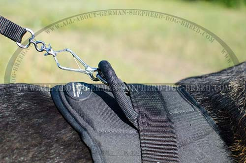 Non-rusting nylon dog harness