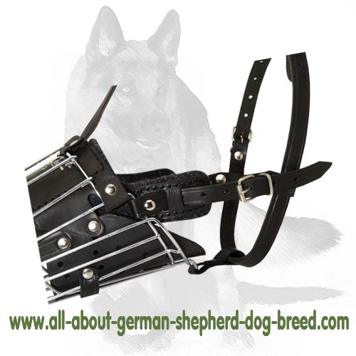 'No Mash' German Shepherd Muzzle - Dog Basket Muzzle