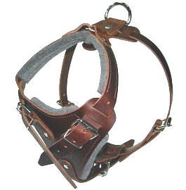 K9 Pro Leather Dog Harness for German Shepher