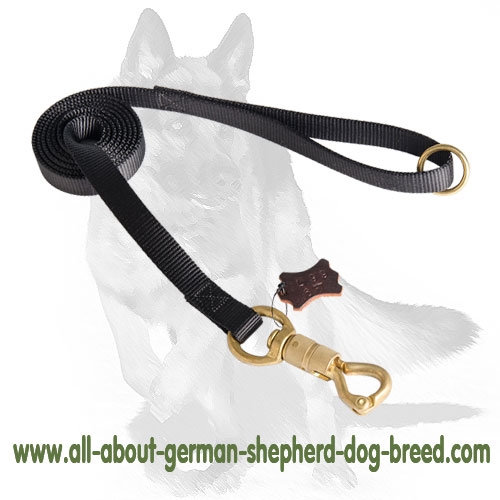 German Shepherd Nylon Dog Leash 180 cm long