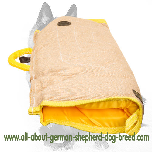 Puppy sleeve made of jute for dog trainers