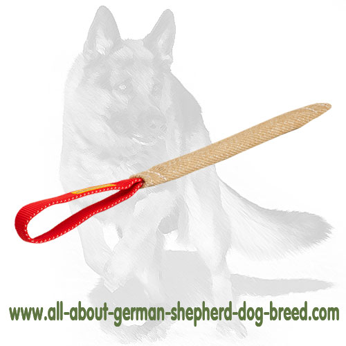 German Shepherd pocket toy made of jute with handle
