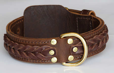 Western Designer Custom Leather Dog Collars For German